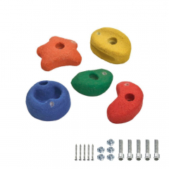 5 Klätterstenar 90 mm färggranna